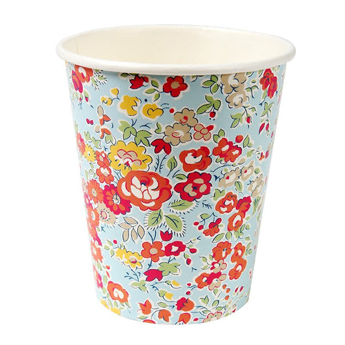 Assorted floral cups - Little Rose Party Company