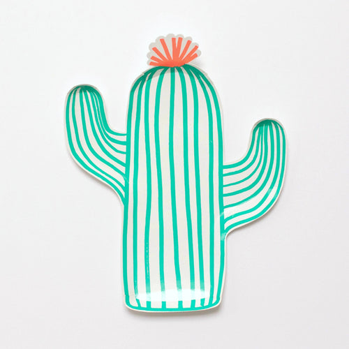Cactus shaped plate - Little Rose Party Company