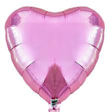Lilac heart foil balloon - Little Rose Party Company