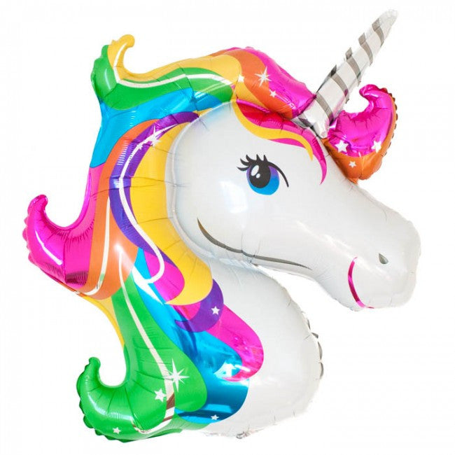 Unicorn head balloon - Little Rose Party Company