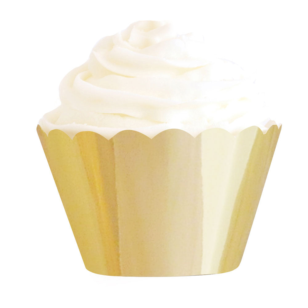 Gold foil cupcake wrappers - Little Rose Party Company