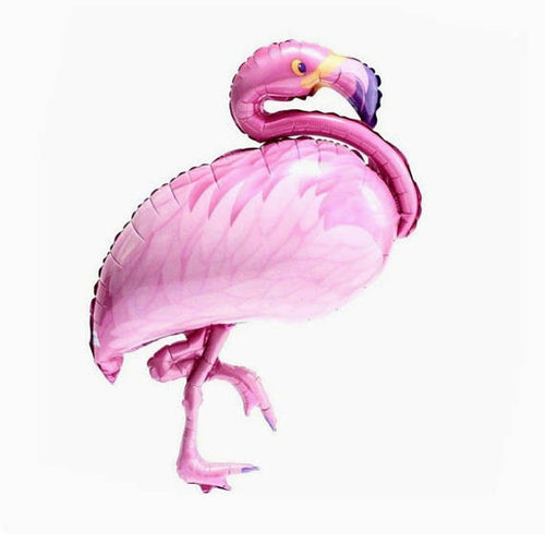 Pink flamingo foil balloon - Little Rose Party Company