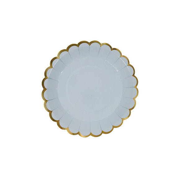 Periwinkle scallop dessert plate - Little Rose Party Company