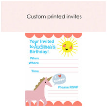 Custom printed invitations - Little Rose Party Company