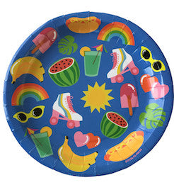 Fun in the sun large plate - Little Rose Party Company