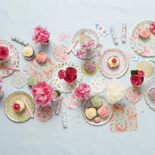 Assorted floral large plates - Little Rose Party Company