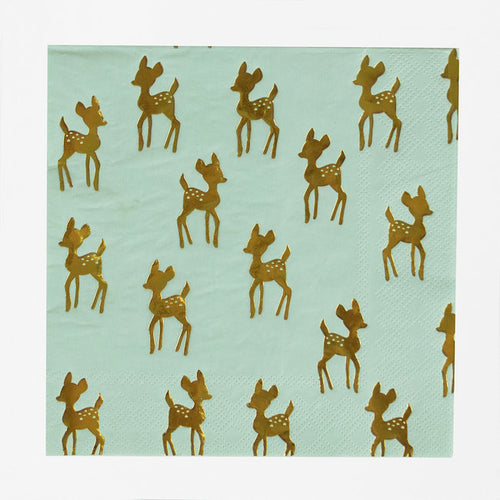 Golden fawn napkins