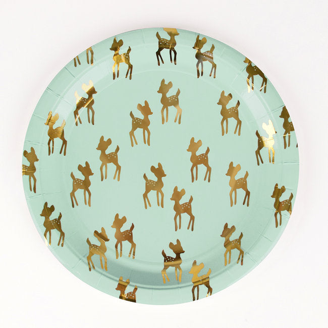 Golden fawn large plate - Little Rose Party Company