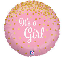 It's a girl glitter foil balloon - Little Rose Party Company