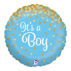 It's a boy foil balloon - Little Rose Party Company