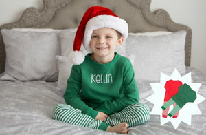 Two-Piece Personalized Boy's Christmas Pajamas