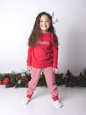 Two-Piece Personalized Girl's Christmas Pajamas