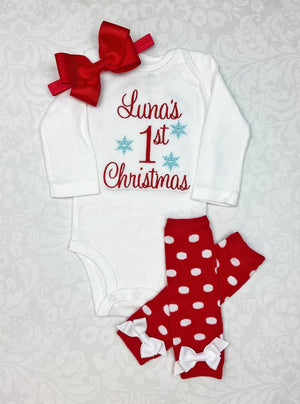 Baby Girl's First Christmas Outfit