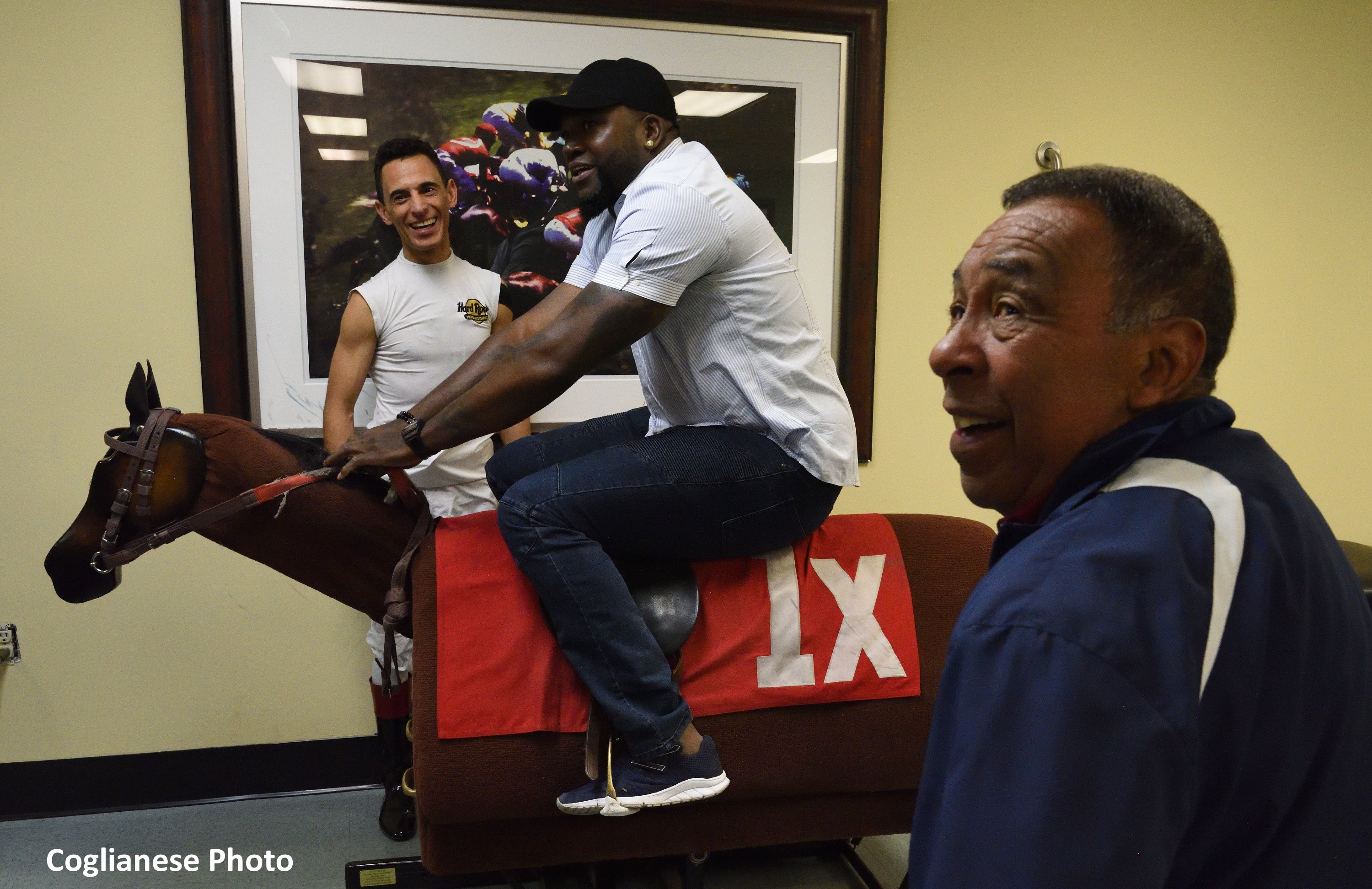 David Ortiz Visits Gulfstream Park