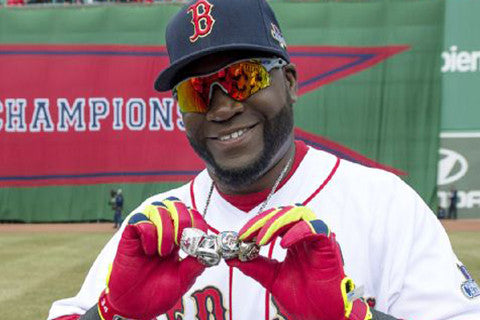 David Ortiz World Series Rings on Display at the MFA in Boston