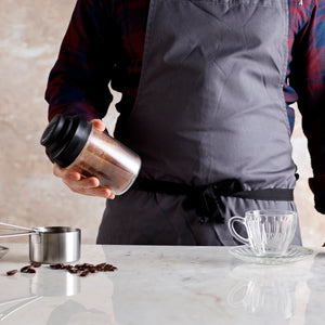 Man making hot chocolate