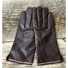 """Suzanne"""" Leather & Crystal Gloves"