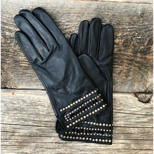 """Soledad"" Leather, Snakeskin or Recycled Cork & Studs Gloves"