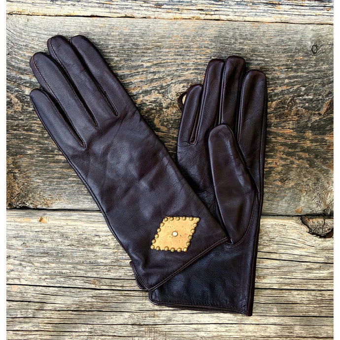Linda Snake or Cork on Leather Gloves
