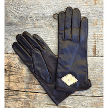"""Linda"" Snake or Cork on Leather Gloves"
