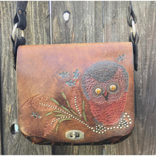 """Boho"" Re-worked 1970's Owl Hippie Bag by Nyovee Accessories"