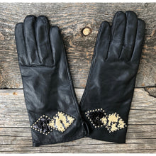 """Teresa"" Snakeskin & Leather Gloves"