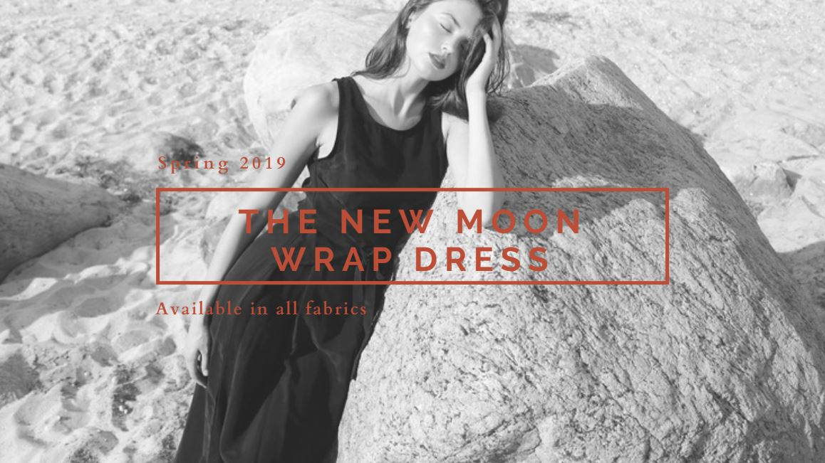 Coming Soon - New Moon wrap dress