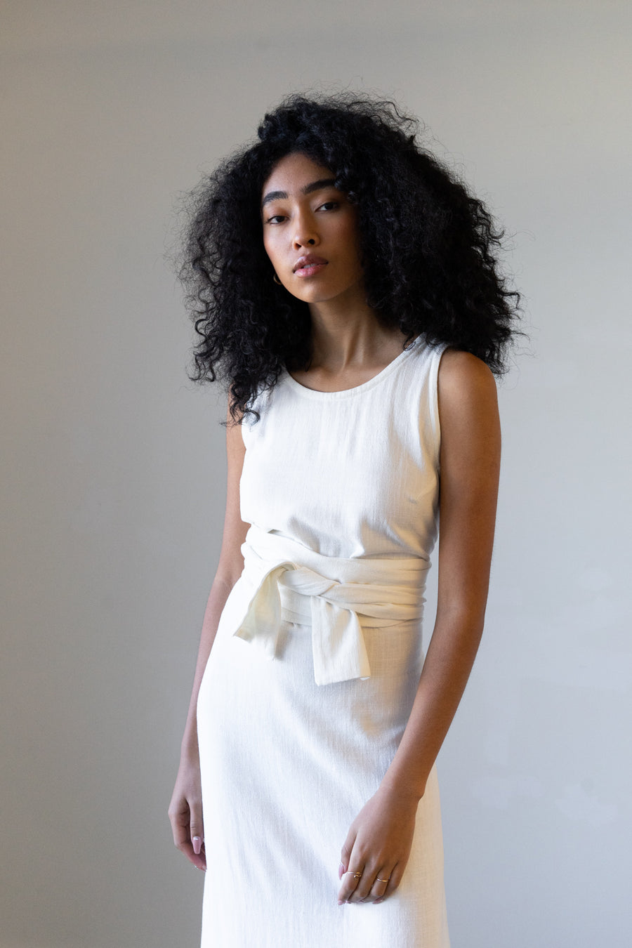 New Moon Dress in Silky Noil