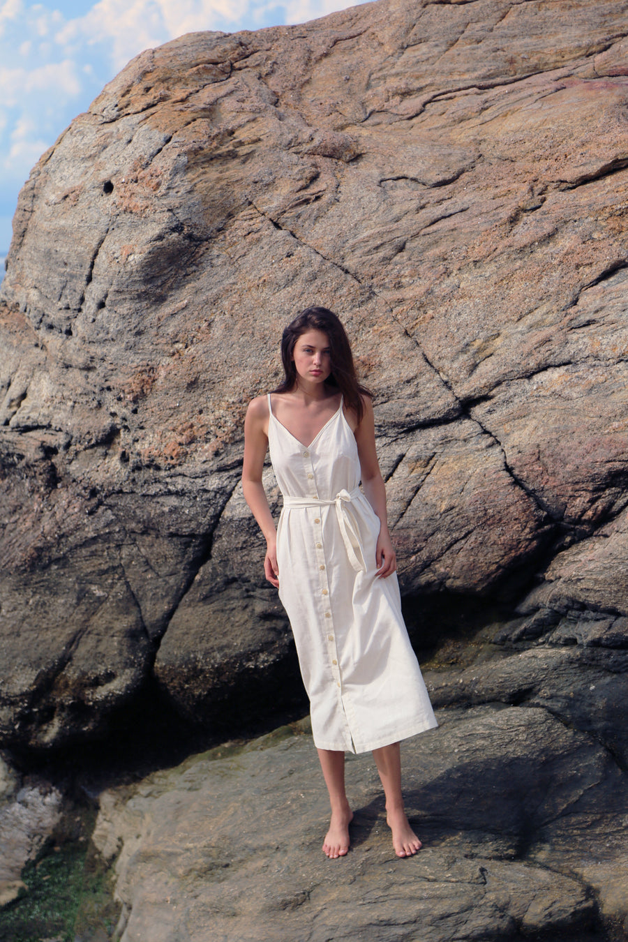 Lotus Dress in Linen