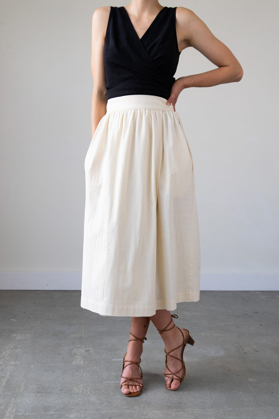 Several Colors Available Made to Order Hemp Organic Cotton Full Length Wrap Skirt