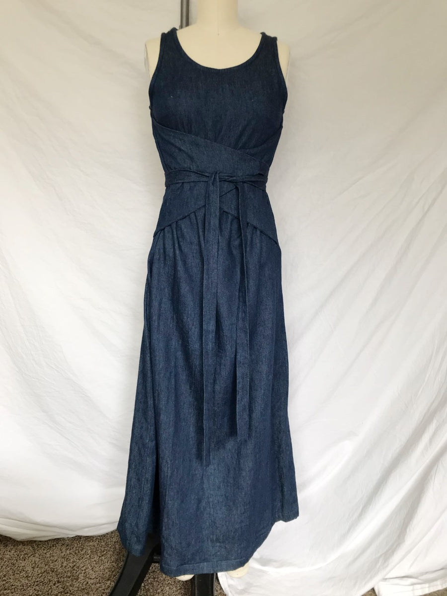SAMPLE SALE - Eclipse dress in hemp denim, XS