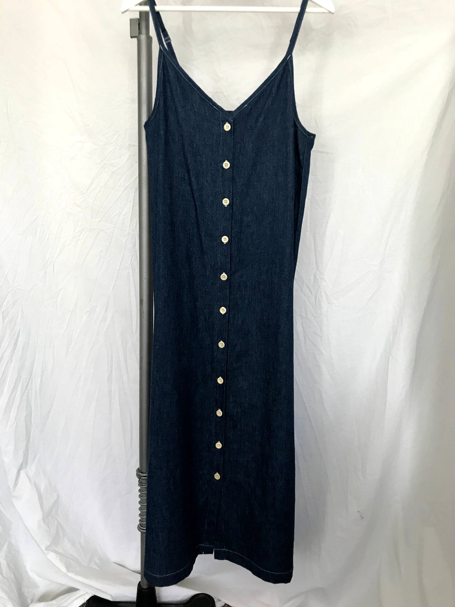 SAMPLE SALE - Lotus buttondown dress in hemp denim, M