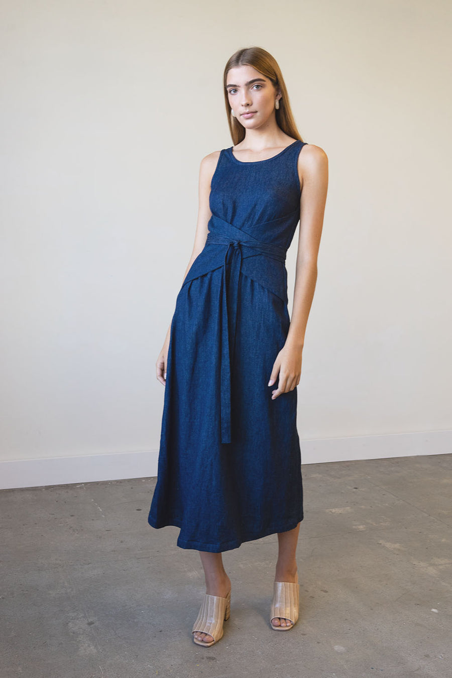 Eclipse Dress in Hemp Denim