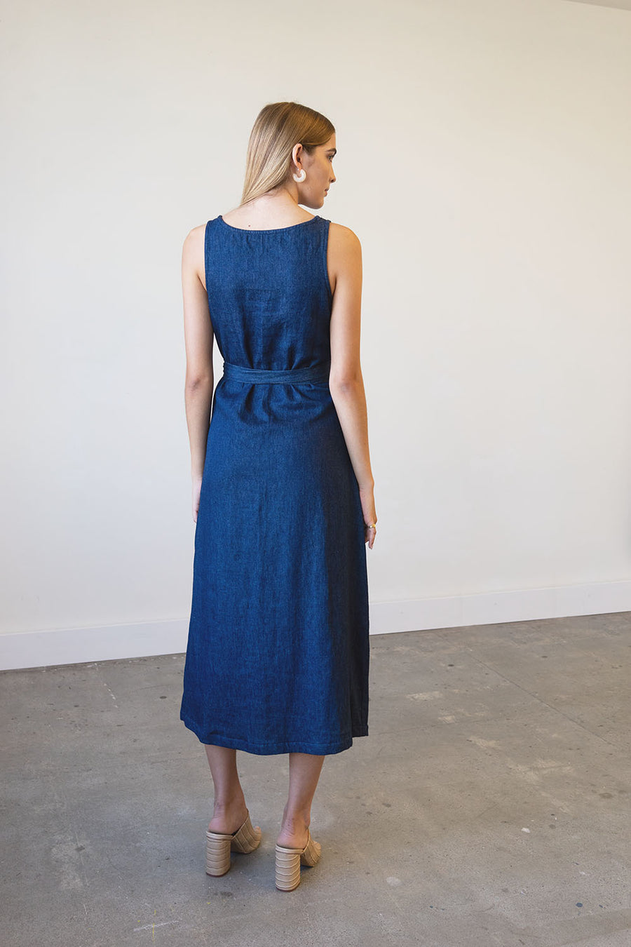 [SOLD OUT] Eclipse Dress in Hemp Denim