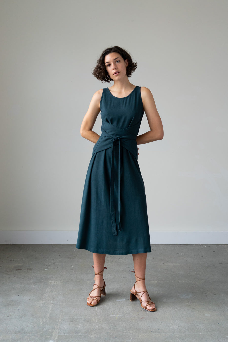 Eclipse Dress in Silky Noil