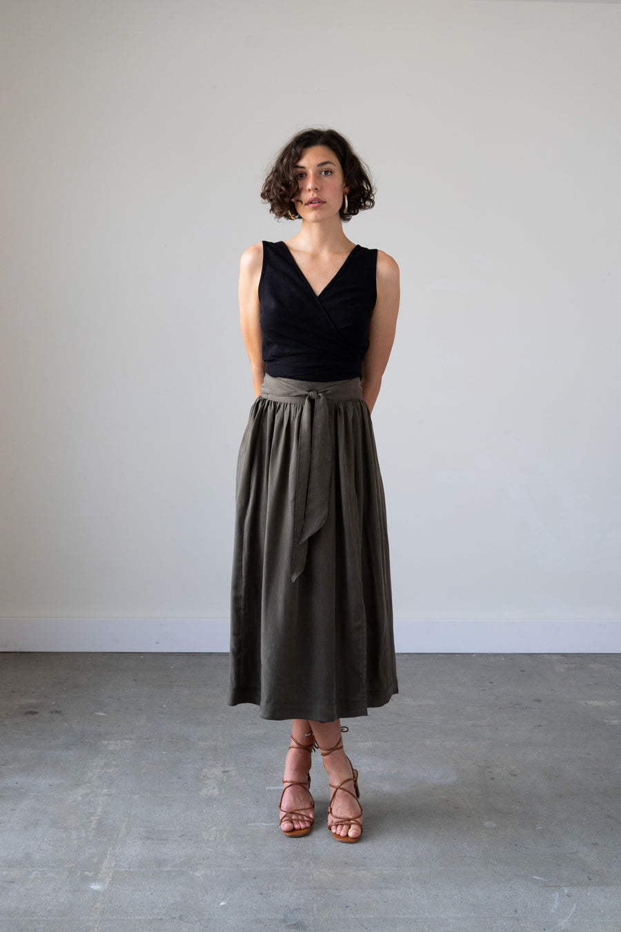 Jupiter Wrap Skirt in Cupro