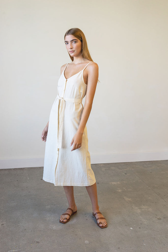 Lotus Dress in Washed Crepe