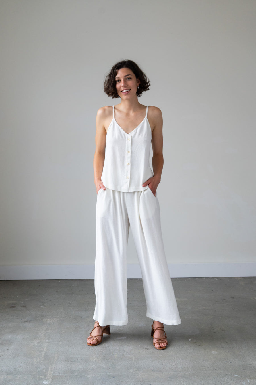 Juno Pants in Silky Noil