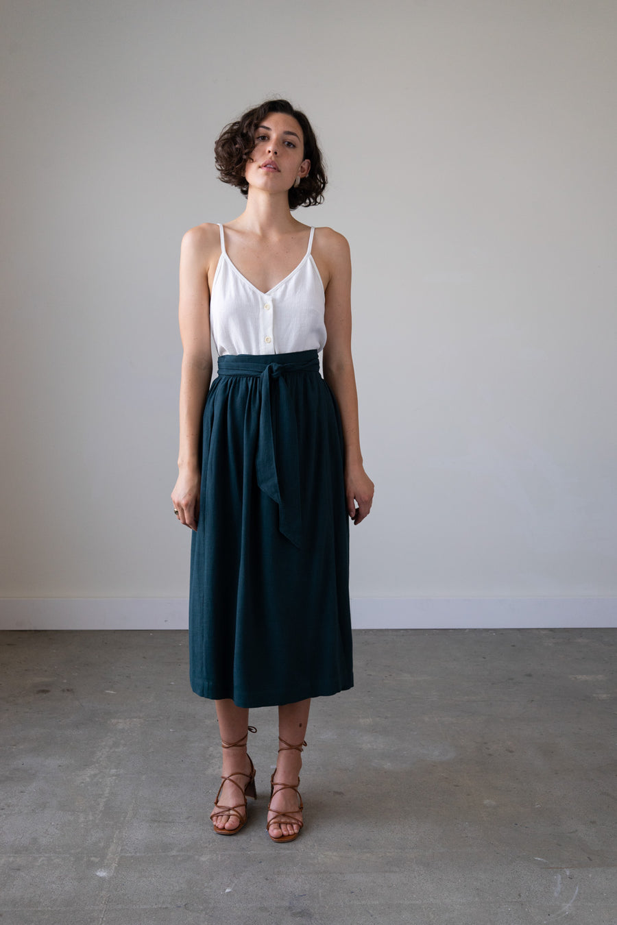 Jupiter Wrap Skirt in Silky Noil