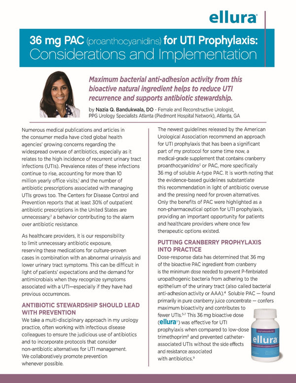 Dr. Nazia Bandukwala discusses putting the guidelines for cranberry prophylaxis in practice