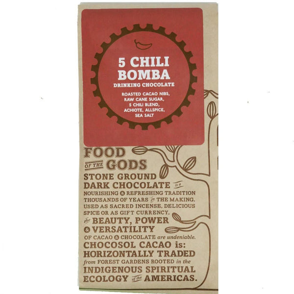 Bag of 5 Chili Bomba Drinking Chocolate.