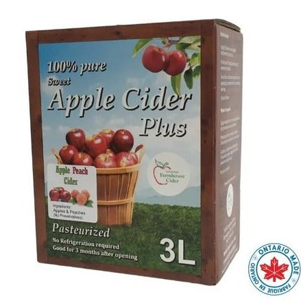 Box of Apple Peach Cider