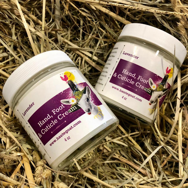 Jar of hand, foot & cuticle cream