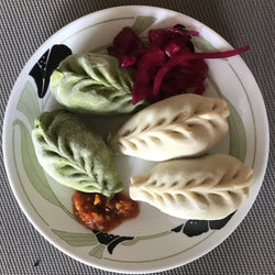 Beef and Vegan Momos, 18 pieces