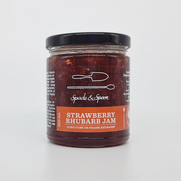 Jar of Strawberry Rhubarb Jam