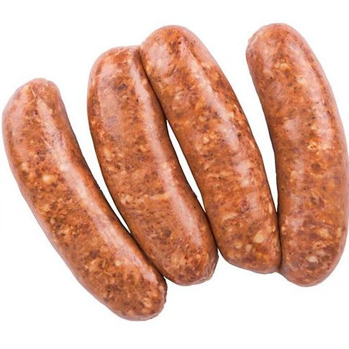 Four lamb sausages