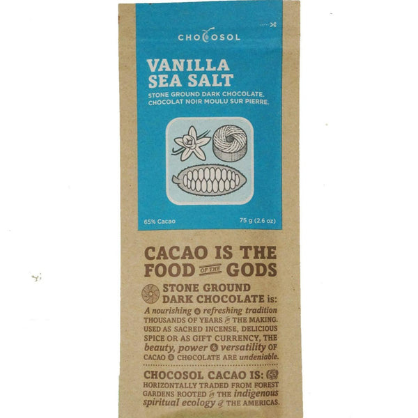 Bag of vanilla sea salt chocolate.