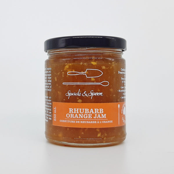 Jar of Rhubarb Orange Jam