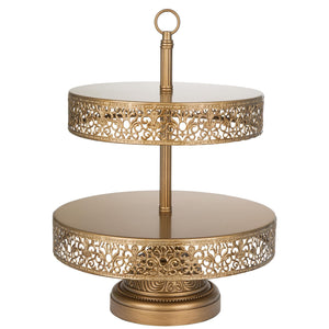 2 Tier Gold Dessert Cupcake Stand Amalfi Decor