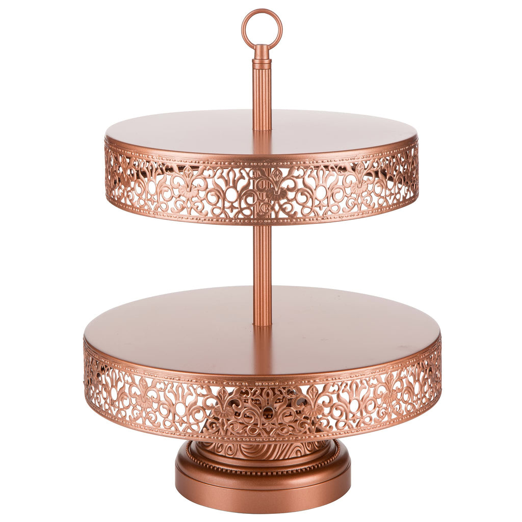 2 Tier Rose Gold Dessert Cupcake Stand Amalfi Decor